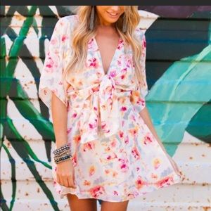 """Buddy Love """"Connie"""" floral print tie front dress"""